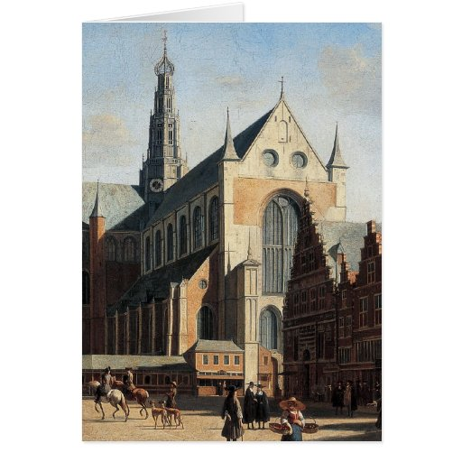 The Grand Market in Haarlem Card