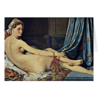 The Grand Odalisque,  By Ingres Jean Auguste Domin Card