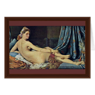 The Grand Odalisque,  By Ingres Jean Auguste Domin Greeting Card
