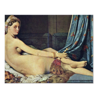 The Grand Odalisque,  By Ingres Jean Auguste Domin Custom Invite