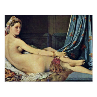 The Grand Odalisque,  By Ingres Jean Auguste Domin Post Card