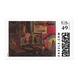 The Grand Piano Postage Stamp