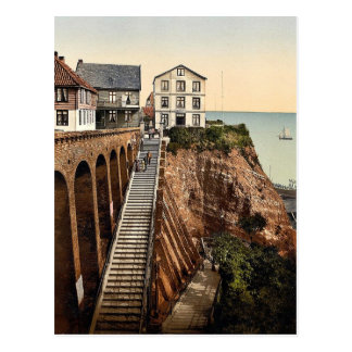 The Grand Staircase, Helgoland, Germany classic Ph Postcard