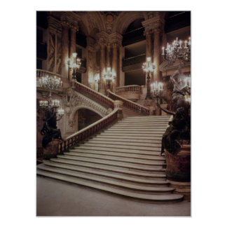 The Grand Staircase of the Opera-Garnier Print