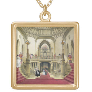 The Grand Staircase, Windsor Castle, from 'A Histo Gold Plated Necklace