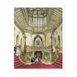 The Grand Staircase, Windsor Castle, from 'A Histo Postcard