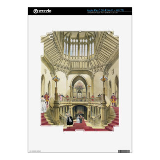 The Grand Staircase, Windsor Castle, from 'A Histo iPad 3 Decals