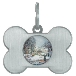 The Grand Street Entering to Argenteuil, Winter Pet Name Tag