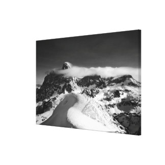 The Grand Teton and the cathedral group as Canvas Print