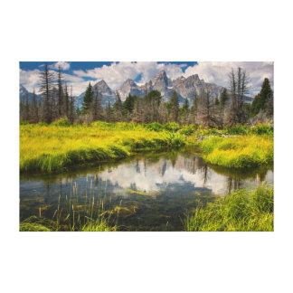 The Grand Tetons National Park Canvas Print