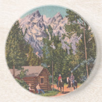 The Grand Tetons - Wyoming Drink Coaster