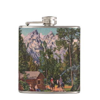 The Grand Tetons - Wyoming Flask