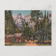 The Grand Tetons - Wyoming Postcard