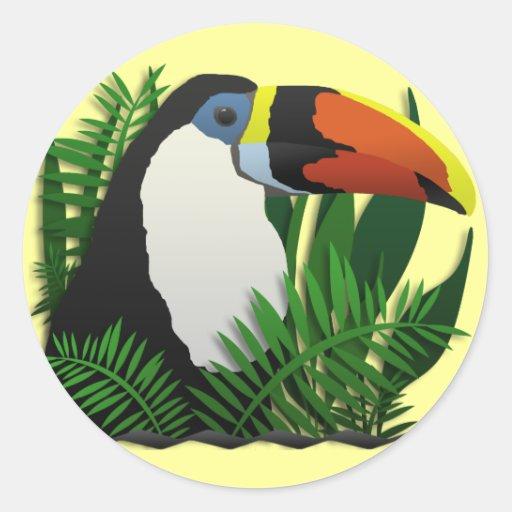 Canapé En Soldes Chez Fly : The Grand Toucan Classic Round Sticker  Zazzle