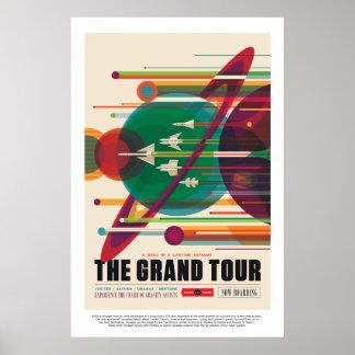 The Grand Tour Jupiter Saturn Uranus and Neptune Poster