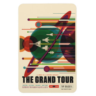 The Grand Tour - Retro NASA Travel Poster Magnet