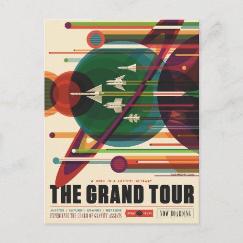 The Grand Tour _ Retro NASA Travel Poster Postcard