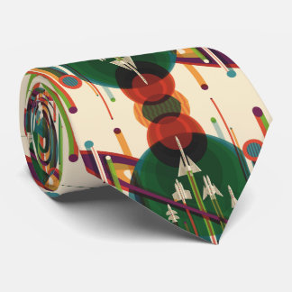 The Grand Tour - Retro NASA Travel Poster Tie