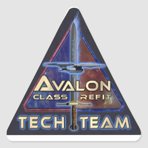 The Grandeur Project Tech Team Triangle Sticker