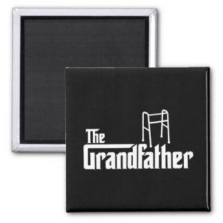 The Grandfather 2 Inch Square Magnet