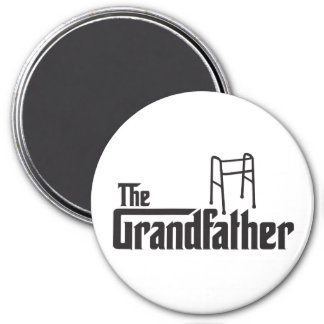 The Grandfather 3 Inch Round Magnet