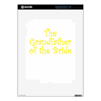 The Grandfather of the Bride Decals For iPad 2