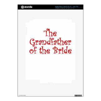 The Grandfather of the Bride Decal For iPad 3