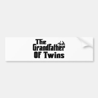The GRANDFATHER of TWINS Bumper Sticker