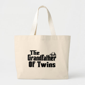 The GRANDFATHER of TWINS Large Tote Bag