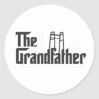 The Grandfather Round Stickers