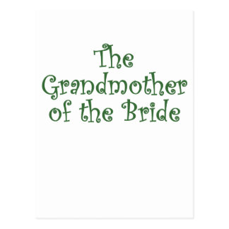 The Grandmother of the Bride Postcard