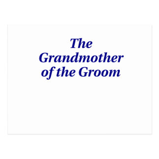 The Grandmother of the Groom Postcard