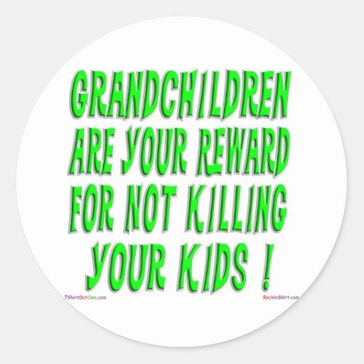 The Grandparent Reward Sticker