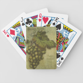 The Grapes of Worth for Mother Bicycle Playing Cards