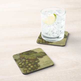The Grapes of Worth for Mother Drink Coaster