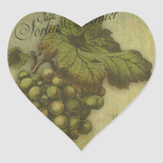 The Grapes of Worth for Mother Heart Sticker