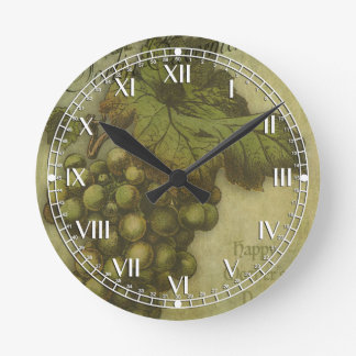 The Grapes of Worth for Mother Round Wall Clock
