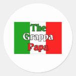 The Grappa Papa Round Stickers