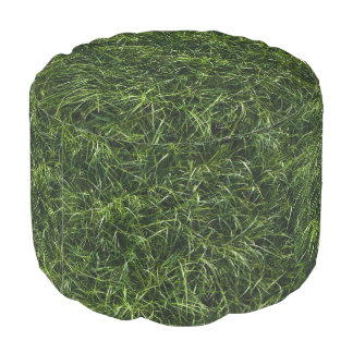 The Grass is Always Greener Round Pouf
