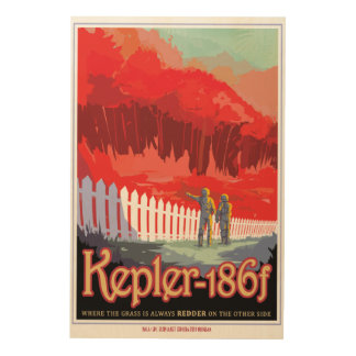 The Grass is Always Redder on Keppler 186f Travel Wood Print