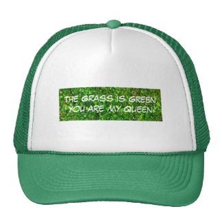 The Grass is GREEN - funny Trucker Hat