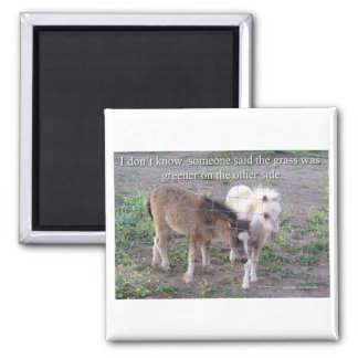 The Grass is Greener 2 Inch Square Magnet