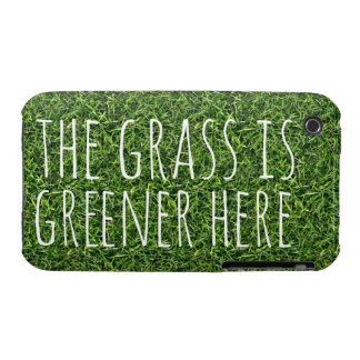 The Grass is Greener Here Case-Mate iPhone 3 Case