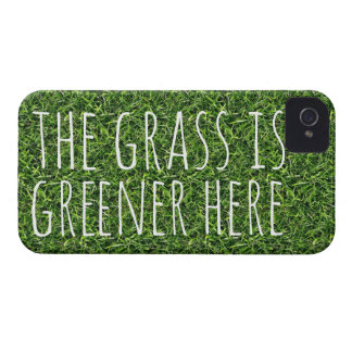 The Grass is Greener Here iPhone 4 Case-Mate Cases
