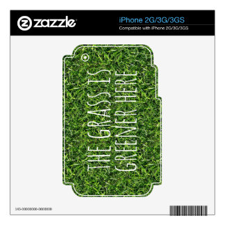 The Grass Is Greener Here Decals For The iPhone 3
