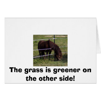 The grass is greener on the other side! card