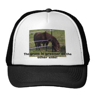 The grass is greener on the other side! trucker hat