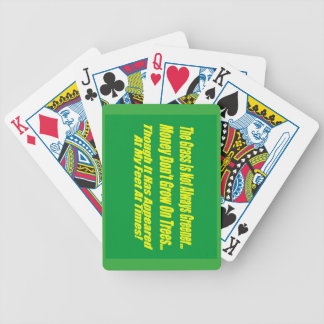 The Grass Isn't Always Greener Bicycle Playing Cards