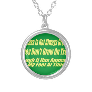 The Grass Isn't Always Greener Silver Plated Necklace