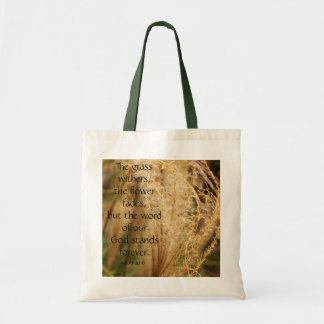 The grass withers/Pampas grass Scripture Bag